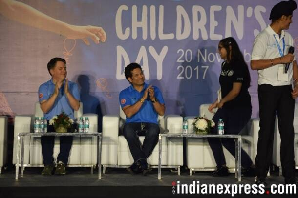 Sachin Tendulkar photos, Tendulkar photos, World Children's Day 2017, World Children's Day photos, Cricket photos