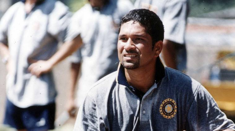 Sachin Tendulkar makes Test debut for India