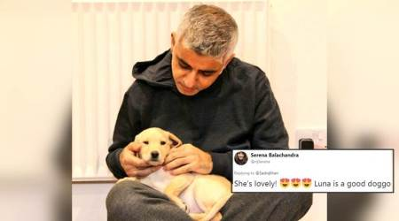 London mayor Sadiq Khan shares picture of his puppy; Twitterati welcome the animal with openarms