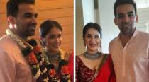 Sagarika Ghatge ties the knot with Zaheer Khan, see first photos of the couple