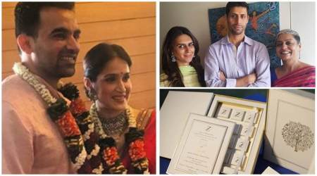 Sagarika Ghatge marries Zaheer Khan, see photos of the newlyweds and wedding card