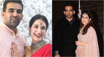 Newlyweds Sagarika Ghatge and Zaheer Khan look regal on this magazine cover
