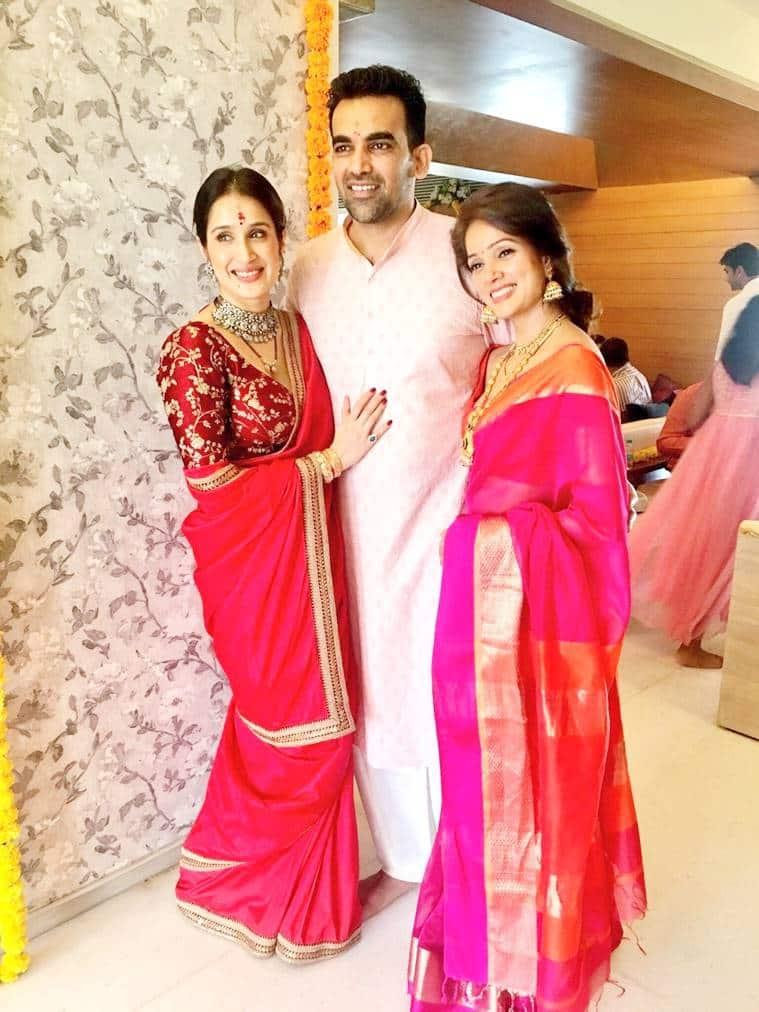 sagarika ghatgezaheer khan wedding who wore what and