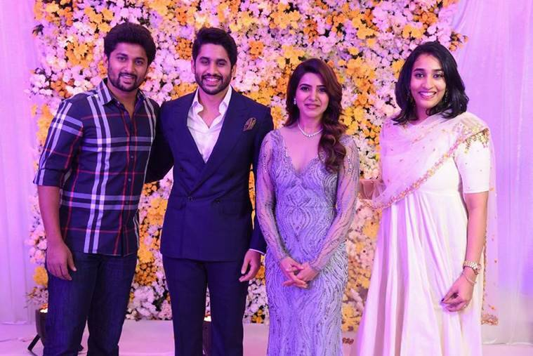 Samantha Ruth Prabhu, Naga Chaitanya, Samantha naga wedding reception, chaisam Hyderabad reception, Hyderabad Samantha naga reception, Samantha naga latest photos, Samantha naga recent photos, chaisam Hyderabad reception inside photo