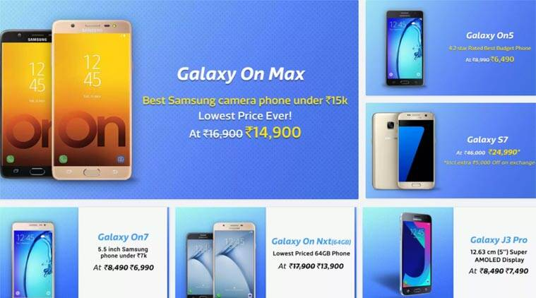 c9b04eabe5a Flipkart Samsung Mobiles Fest  Galaxy S7 at Rs 29