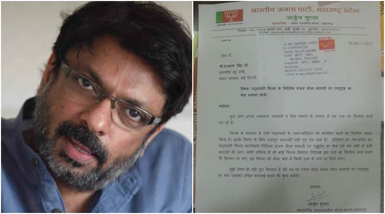 BJP leader wants Sanjay Leela Bhansali to be tried for treason