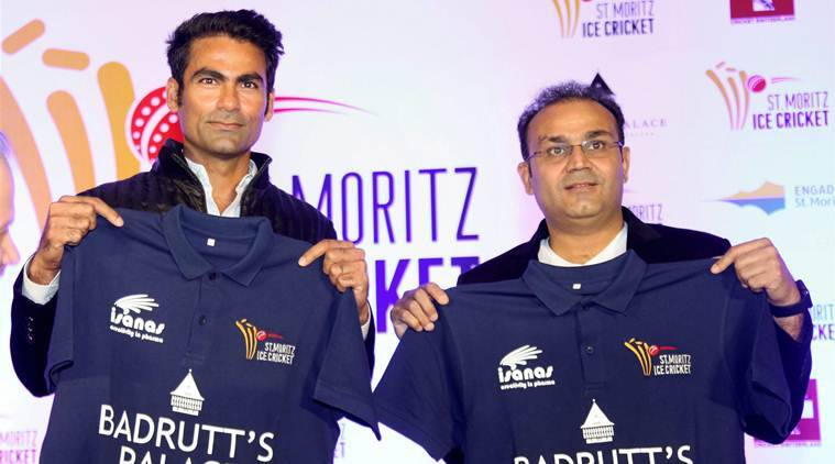 Sehwag and Kaif will play the St Moritz Ice cricket tournament