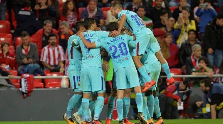 Andre Gomes, Sergi Roberto, Champions League, Barcelona, sports news, football, Indian Express