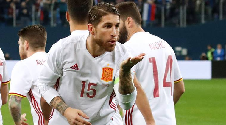 spain vs russia, sergio ramos, football news