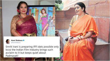 Padmavati row: Twitterati divided after Shabana Azmi takes a dig at Smriti Irani, CBFC