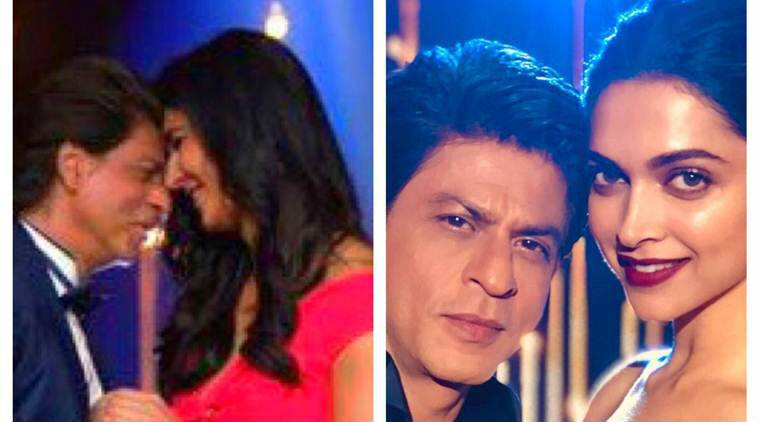 Shah Rukh Khan with Deepika Padukone and Katrina Kaif