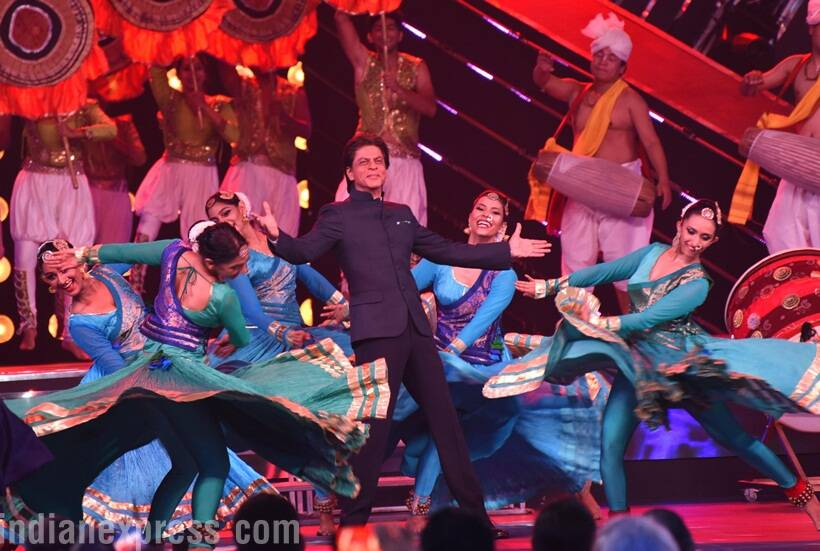Shah Rukh Khan also struck his signature pose at the festival.