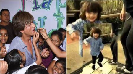 Shah rUkh Khan dances with abram on childrens day
