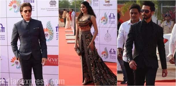 Shah Rukh Khan, Janhvi Kapoor, Shahid Kapoor at IFFI 2017