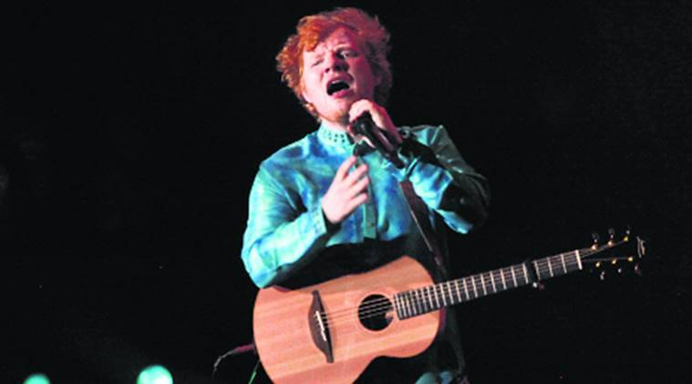 The Grammy award victor  Ed Sheeran arrive in Mumbai for concert