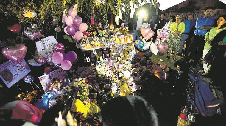 Sherin Mathews laid to rest with mom in attendance