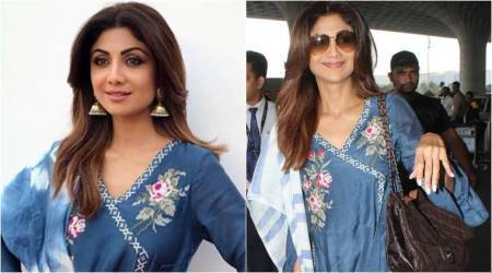 Shilpa Shetty shows us interesting ways to style a denim sharara