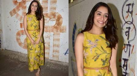 Shraddha Kapoor raises the elegance level in this colourful Anita Dongre creation