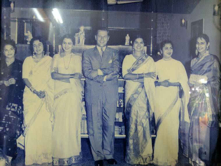 Veteran actress Shyama from a film festival she attended in her time.