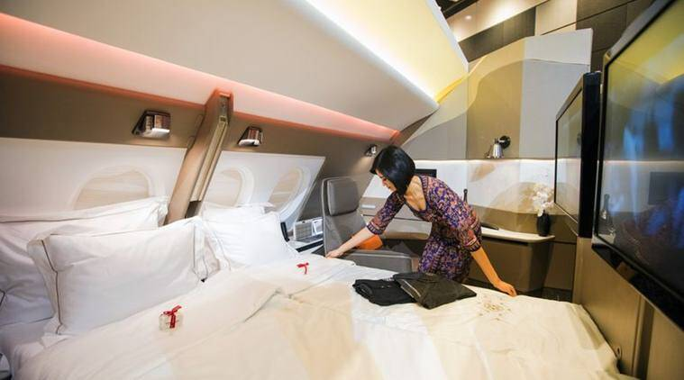 Singapore airelines double bed sex a380