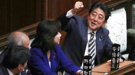 As party vote inches closer, Shinzo Abe seeks to turn page on scandalnarrative