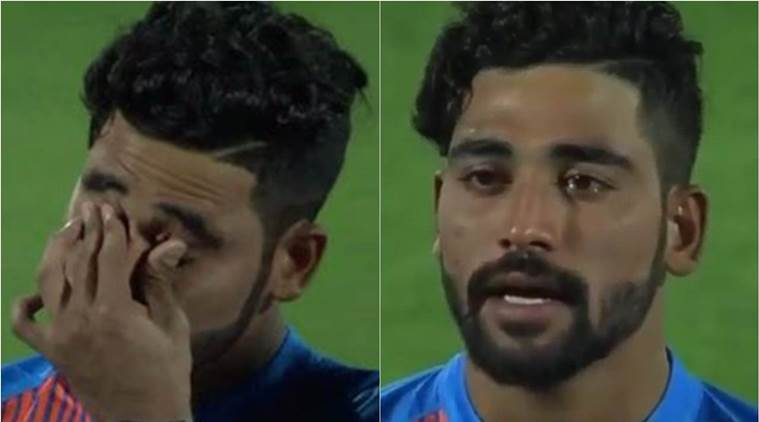Mohammed Siraj has tears in his eyes towards the end of national anthem before second T20 | Sports News,The Indian Express