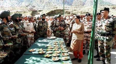 Nirmala Sitharaman, Defence Minister Nirmala Sitharaman, Nirmala Sitharaman Arunachal Pradesh Visits, Arunachal Pradesh, China, India News, Indian Express, Indian Express News
