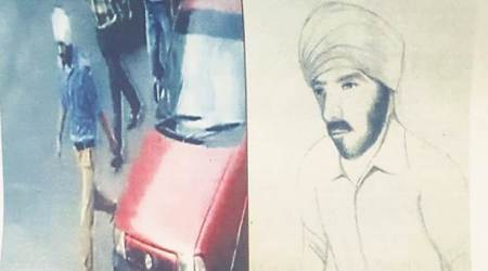 Punjab police release sketch of suspected bike thief