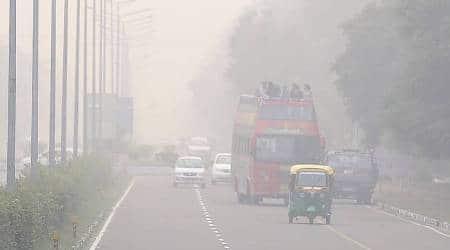 chandigarh air polltion, chandigarh smog, smog, chandigarh weather, chandigarh news, indian express news