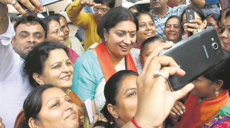 As Irani campaigns, residents complain of civic issues — bad roads, waterlogging