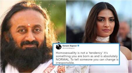 Sonam Kapoor slams Sri Sri Ravi Shankar's view on homosexuality, takes to Twitter to express her anger