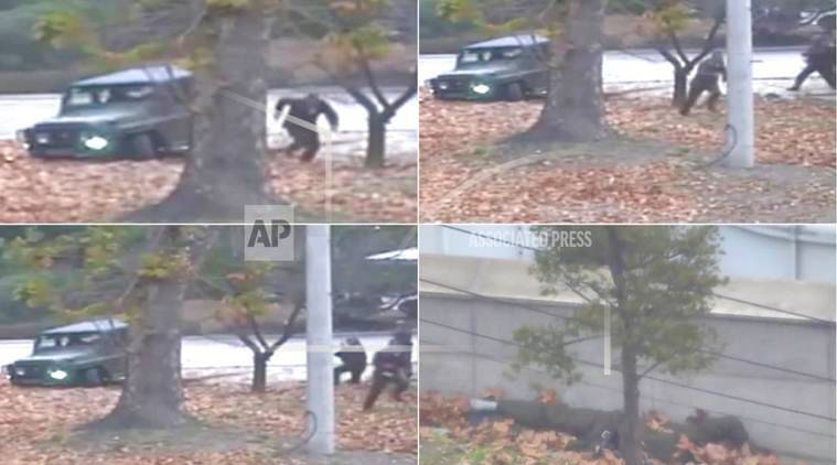 North Korean soldier  video, North Korean soldier escape video, north korea, south korea, world news, indian express news
