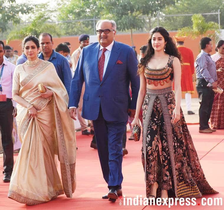 Boney Kapoor Karan Johar launching Janhvi Kapoor dhadak