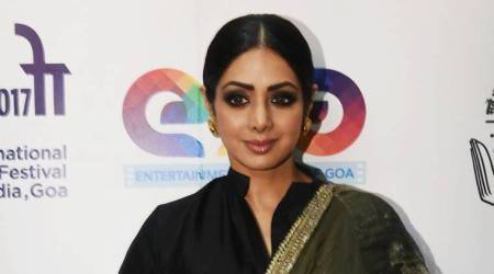 Sridevi shows us how to pair a basic black shirt with a lehenga