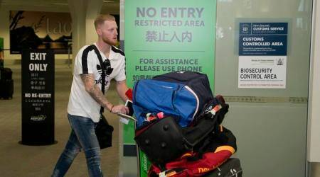 Ben Stokes arrived in New Zealand on Wednesday