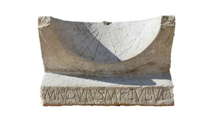 University of Cambridge researchers discovered a 2000-year-old Roman sundial in Italy found outside a theatre gate with iron gnomon concave face and hour lines