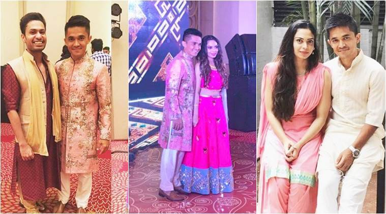 Sunil Chhetri's wedding celebrations get underway: Rare pics of the adorable couple