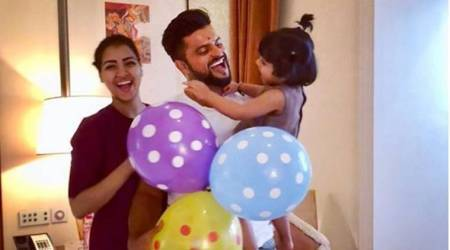 Suresh Raina welcomes 31st birthday with with wife Priyanka, daughter Gracia in Mumbai; see pic