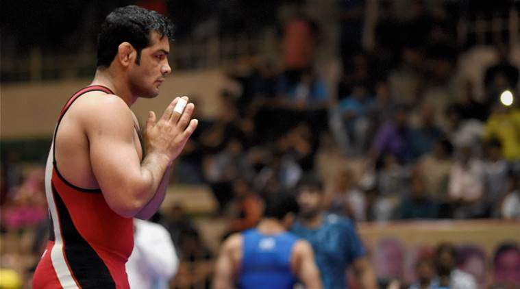 Sushil Kumar at the Wrestling Nationals in Indore