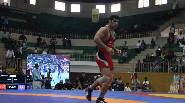 Sushil Kumar, Sushil Kumar India, Sushil Kumar gold, Senior Wrestling Nationals, Sushil Kumar Senior Wrestling Nationals, sports news, wrestling, Indian Express