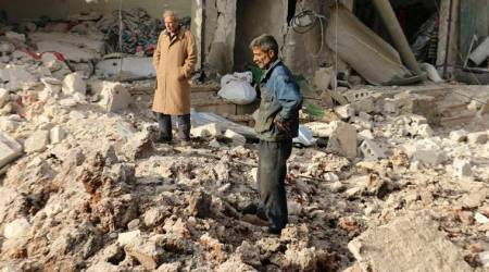 Air raids kill 29 civilians in north Syria town: monitor