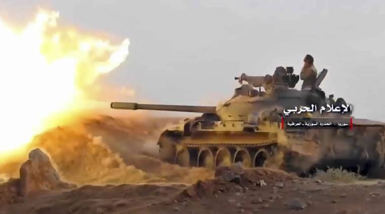 syria, syria artillery fire, syria bombing, Russia bombs syria, world news, indian express news