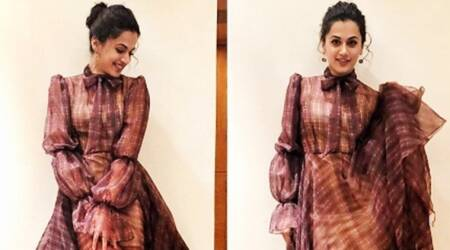 Taapsee Pannu shows how to make a simple plaid dress look stylish