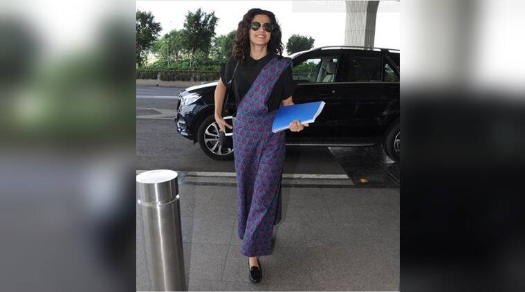 Taapsee Pannu in her quirky sari pants at the airport is the perfect blend of chic and trendy