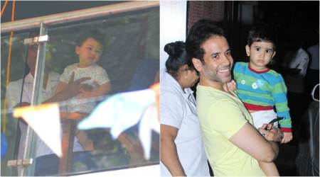 Star kids spotted: Taimur Ali Khan chills in the balcony, Laksshya with dad Tusshar Kapoor