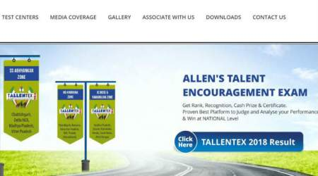 Tallentex 2018 results declared by Allen Career Institute at tallentex.com