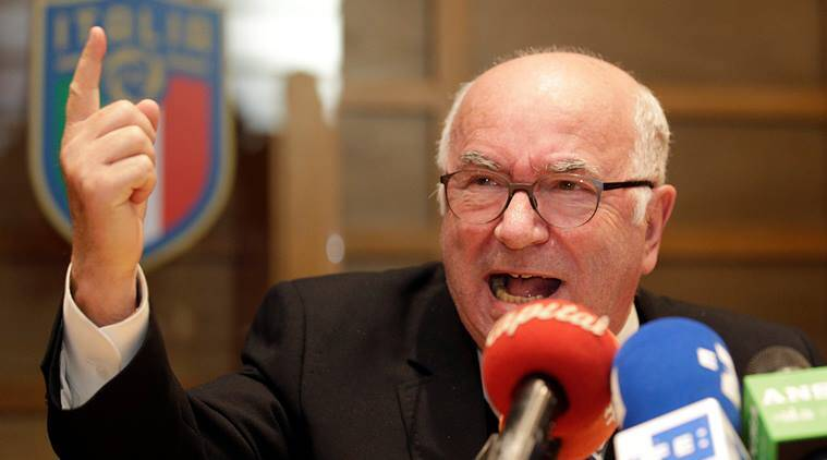 Chief of Italian football federation Carlo Tavecchio