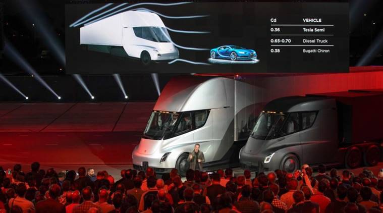 Tesla unveils electric truck called 'Semi', to start production in 2019