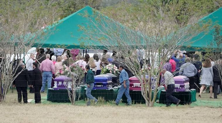 Thousands mourn family members killed in Texas church