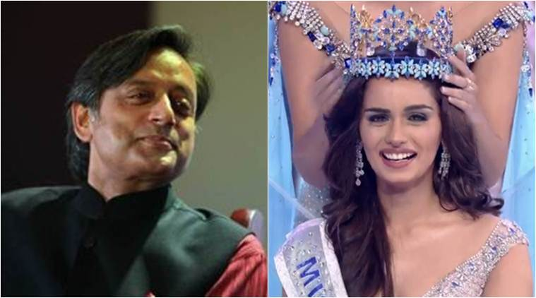 Tharoor joke on Manushi Chhillar